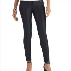White House Black Market Black Coated Skinny Jean